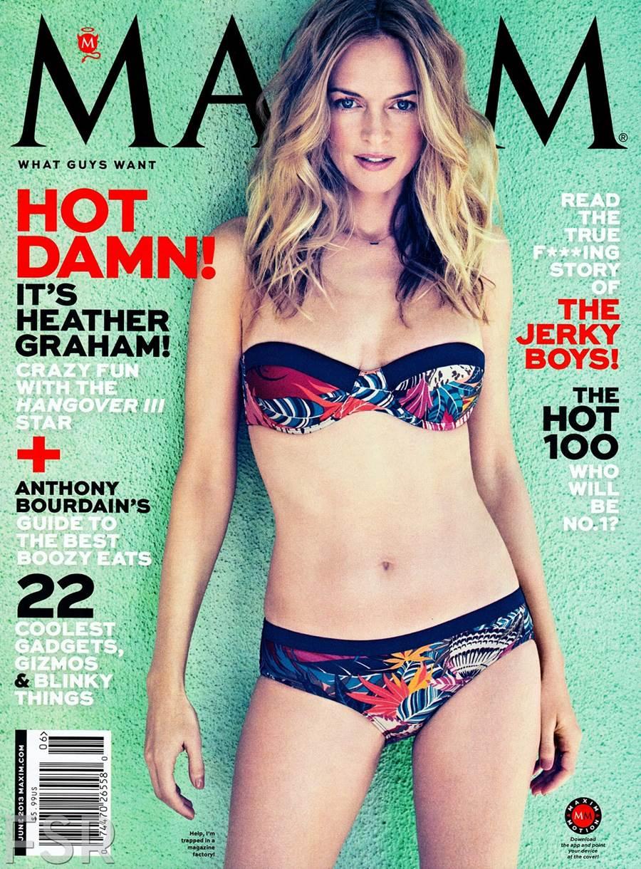 """Heather Graham &Quot;maxim"""" Us June 2013"""