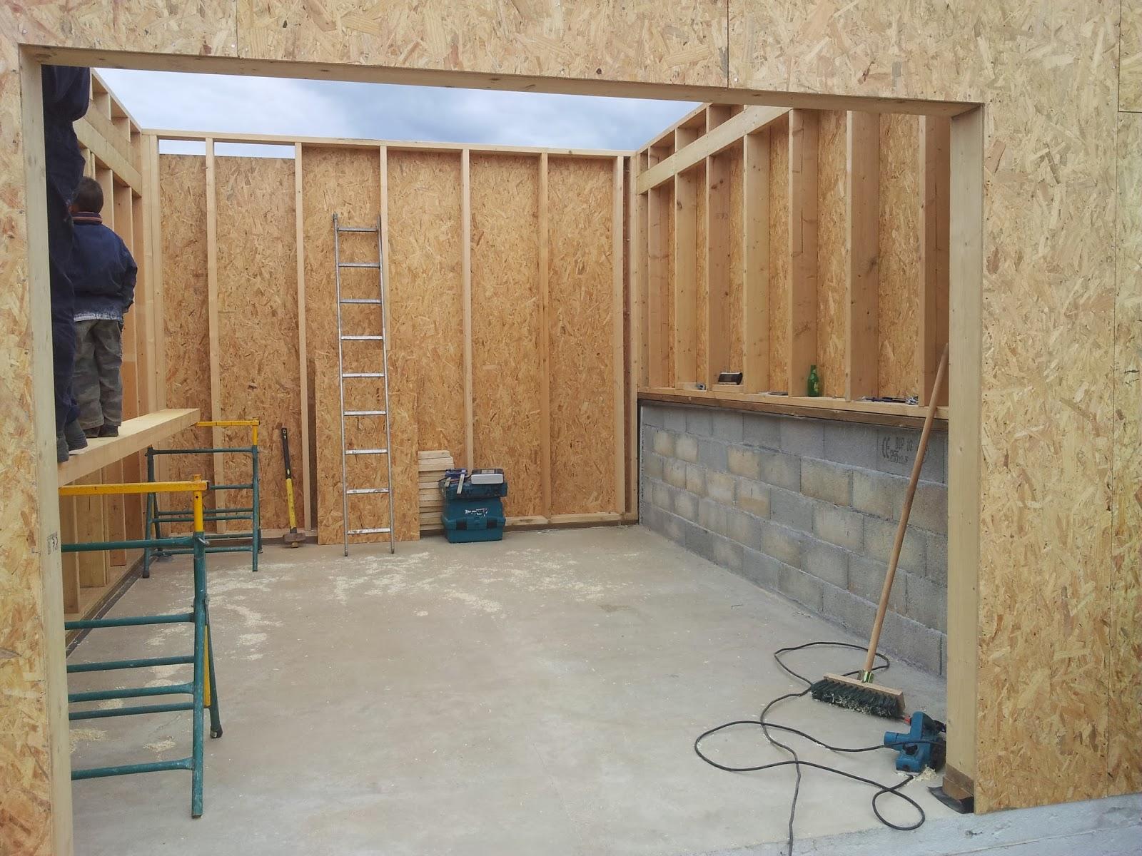 Le garage Construction d'une maison ossature bois dans le 64 # Garage Ossature Bois Monopente