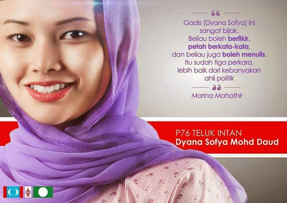 AN OPEN LETTER FROM DYANA 2 D ELECTORATES OF TELOK INTAN