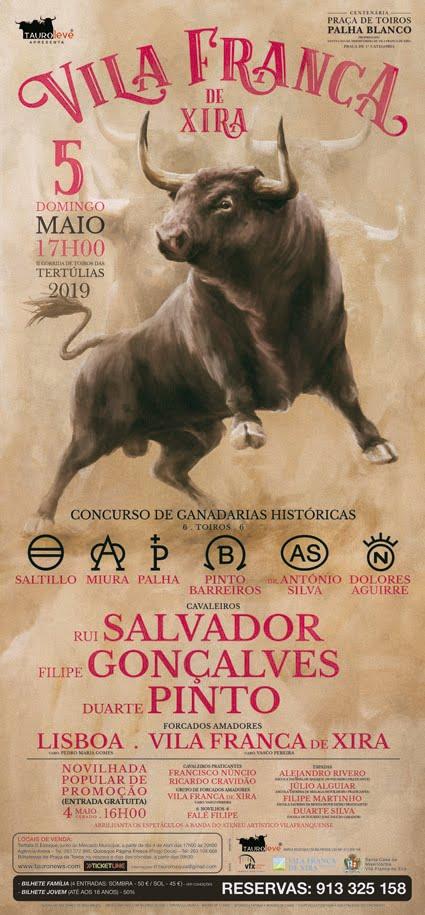VILA FRANCA DE XIRA (PORTUGAL) 05-05-2019 CONCURSO DE GANADERIAS.