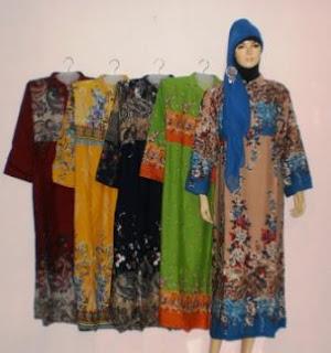 Gamis Bahan Katun GK0288 Baju Gamis Bahan Katun Polos Terbaru 2014 Online
