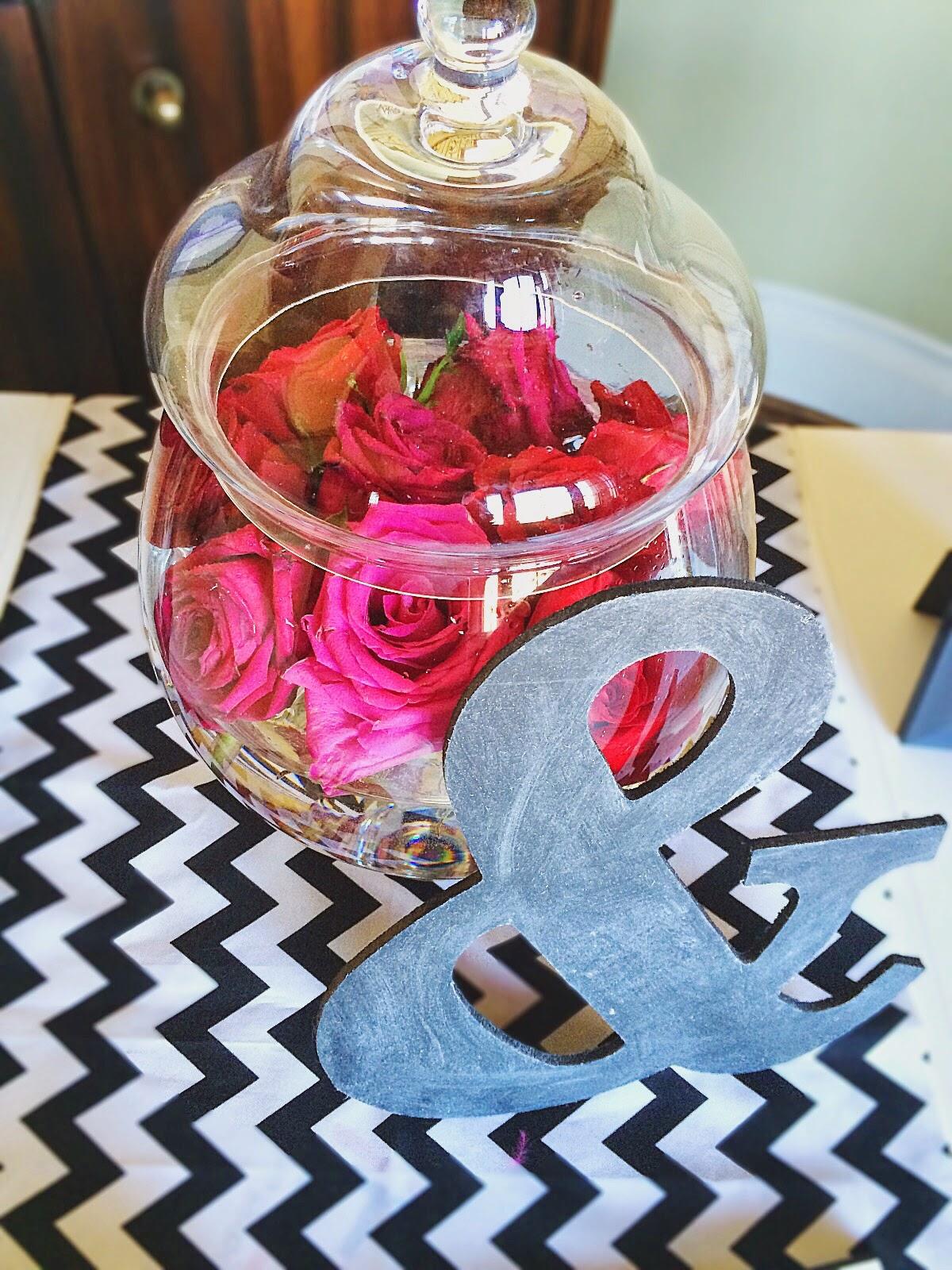 Apothecary Jar Floral Arrangement