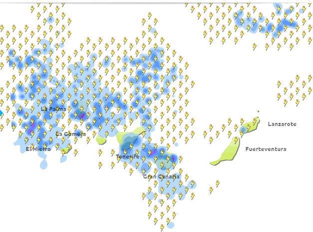 bajada temperaturas y lluvia canarias19 octubre