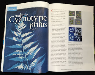Quilting Arts, Cyanotype Article by Sue Reno, Image 1