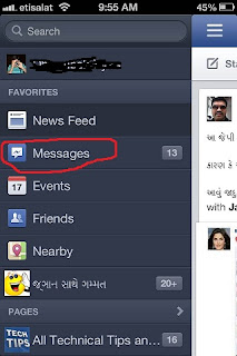 delete Facebook messages from iPhone ipad