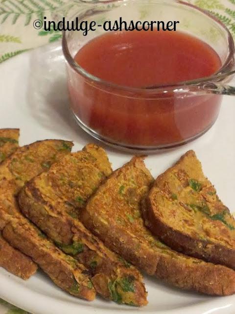 Besan chilla toast