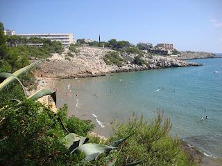 Crystal Clear Water beautiful rocky Beach - Tarragona