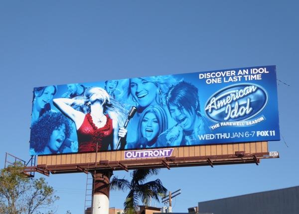 American Idol final season 15 billboard