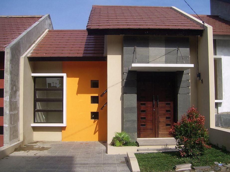 foto rumah type 45 simpel dari depan