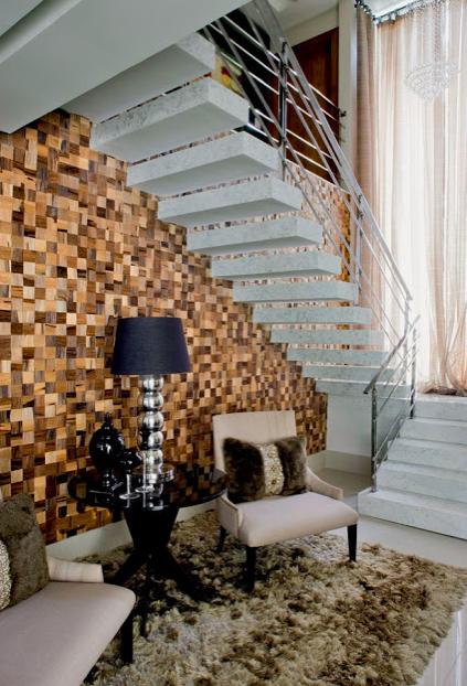 Sala Pequena Com Escada ~ Construindo Minha Casa Clean 30 Salas Decoradas com Escadas