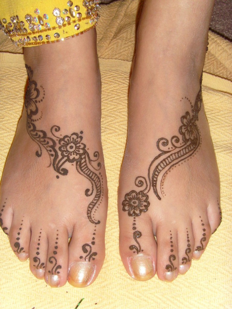 Mehndi Feet : Texas henna designs for feet