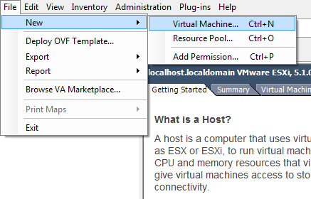 Image result for file new virtual machine vsphere client