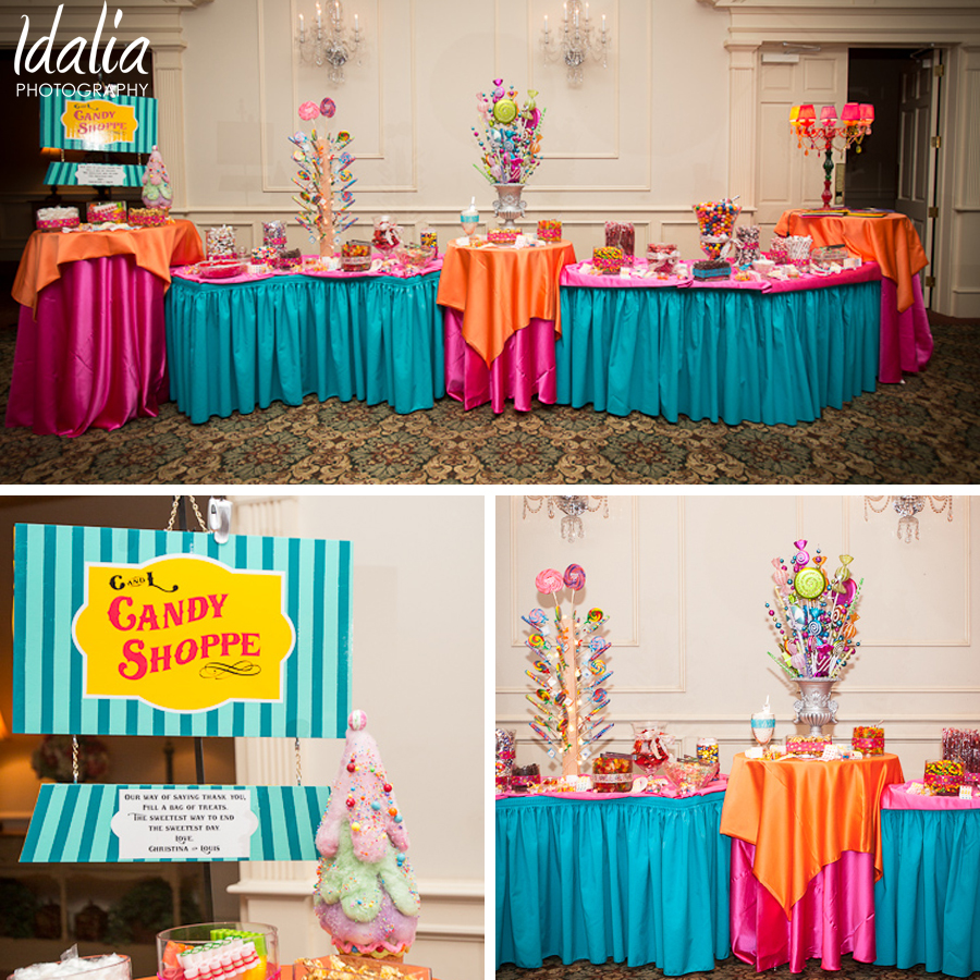Wedding reception candy bar ideas cheap for Candy bar for weddings receptions