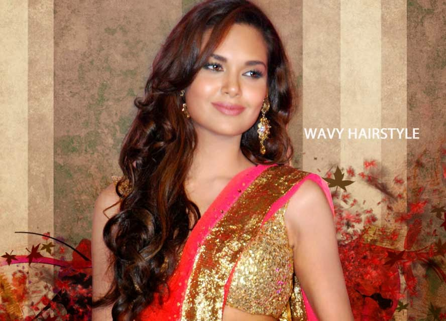 Esha Gupta with Wavy Hairstyle
