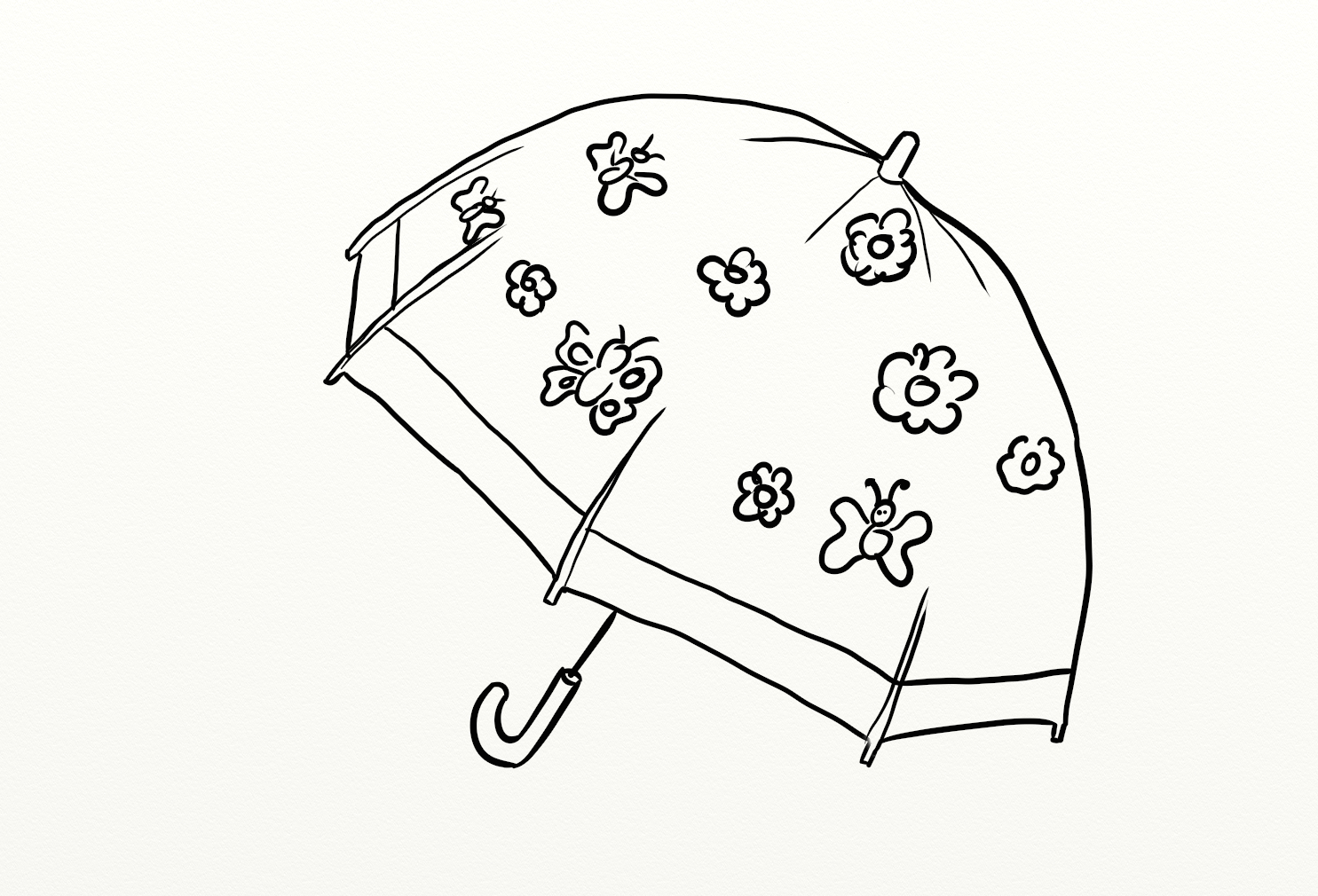 Umbrella Coloring Drawing Free wallpaper