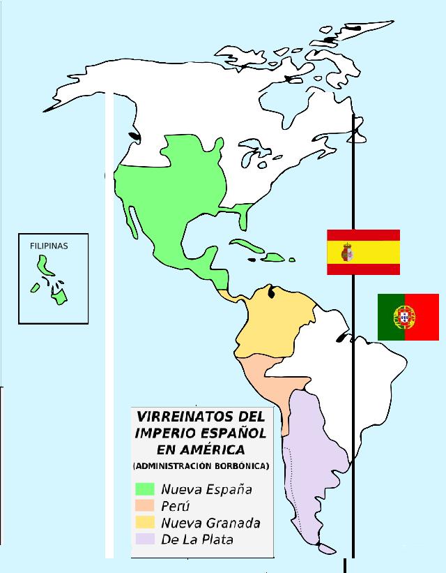 virreinatos colonia espanola america: