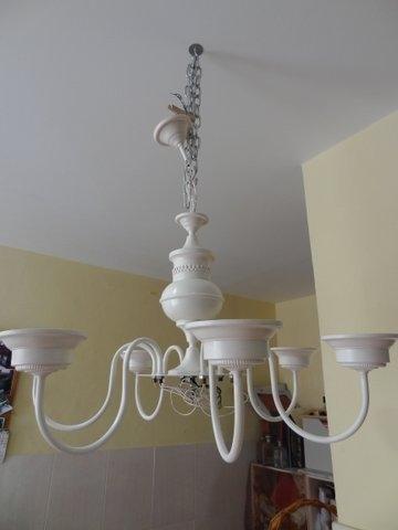 El desv n de los trastucos renovar una l mpara relizado - Pintar lamparas de techo ...