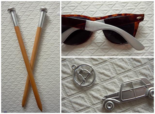 DIY Metallic Paint Glasses Knitting Toys