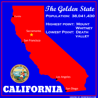 A map of the state of California by jiveinthe415.com.