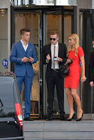 Paris Hilton with boyfriend at Hotel in Cannes