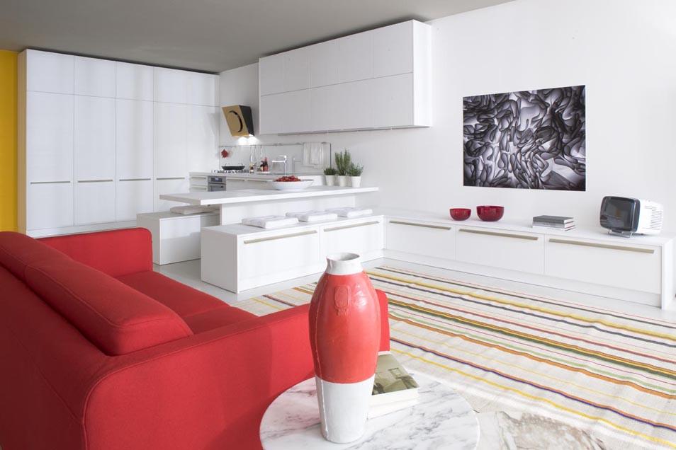 Cucina Rossa Laccata Lucida. Best Cucina Moderna In Legno Laccata ...