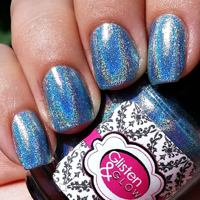 swatcher, polish-ranger | Glisten & Glow Blue Hawaiian in the sun