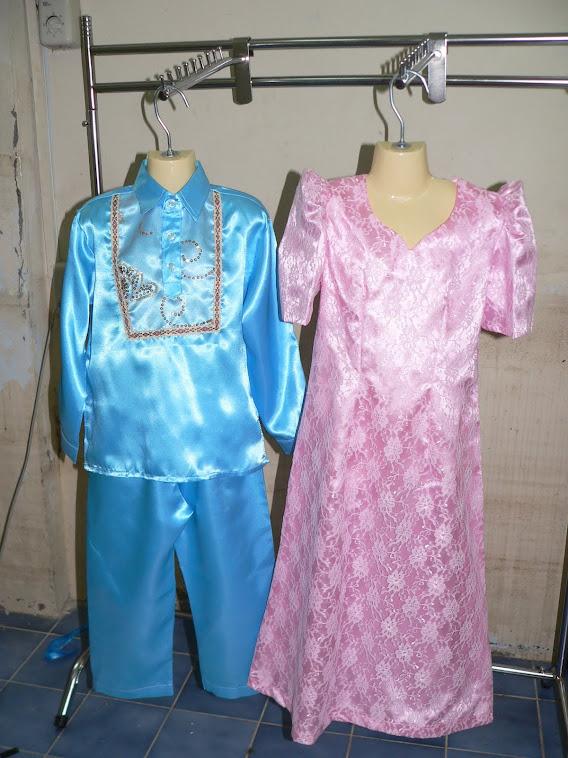 ชุดอาเซี่ยนประจำชาติฟิลิปปินส์ ชุดเด็กชาย ชุดผู้หญิง มีไซน์SSSจนถึงไซน์XXL