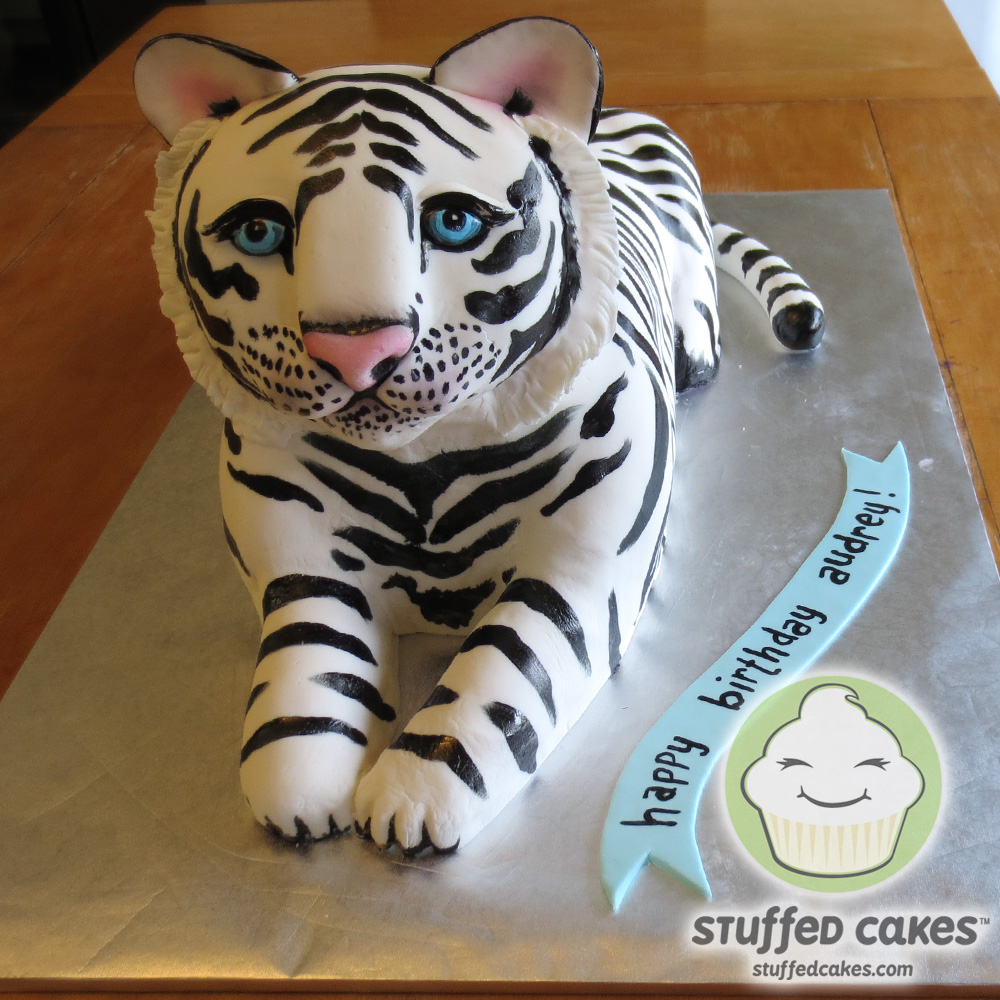 Stuffed Cakes: White Tiger Cake