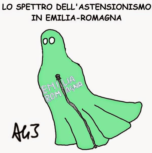 Emilia, Romagna, Salvini, astensione, satira