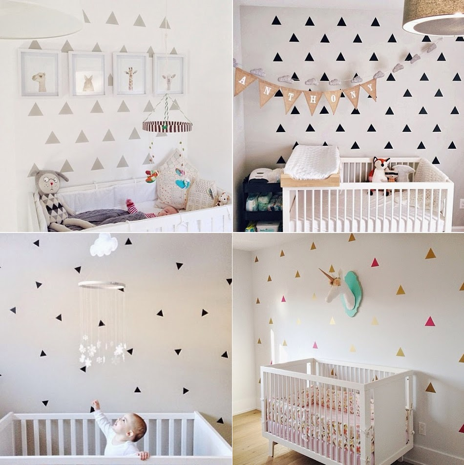 Quick Nursery Makeover - Triangle Decals