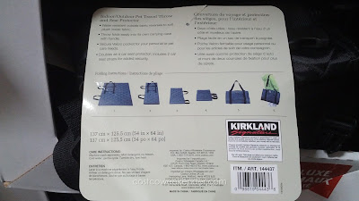 Kirkland Indoor/Outdoor Pet Travel Throw and Seat Protector to keep your car clean