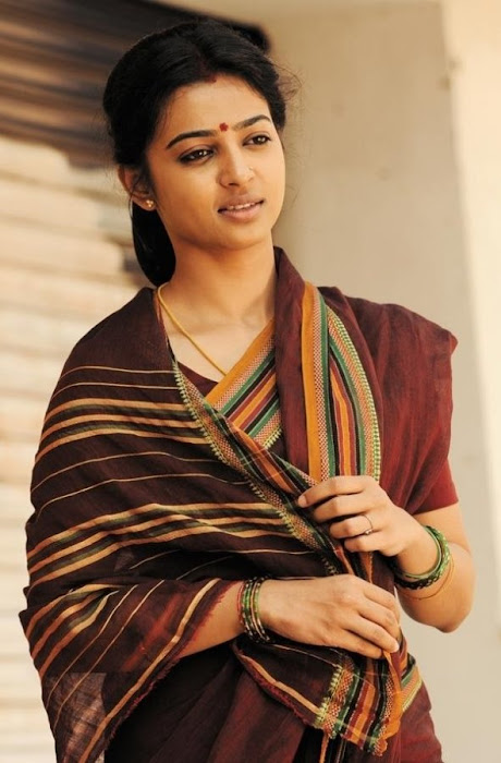 radhika apte in saree - raktha charithra movie latest photos