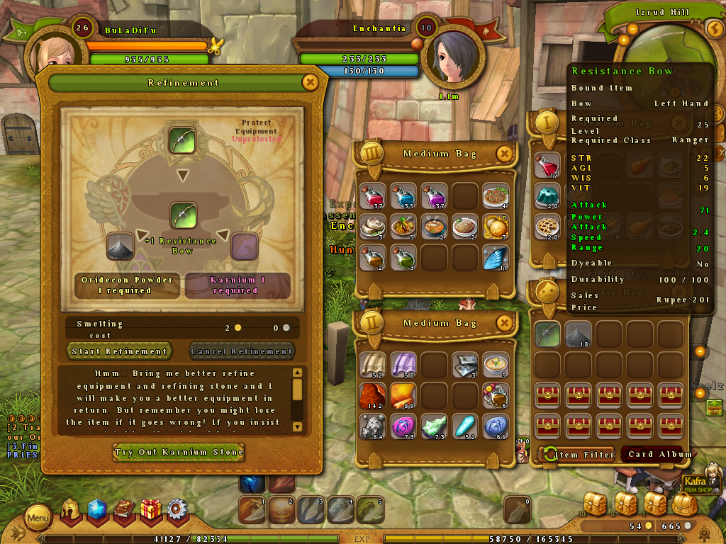 Ragnarok Online Equipment improvement