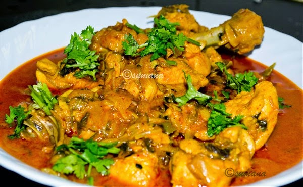 methi and garlic flavoured chicken