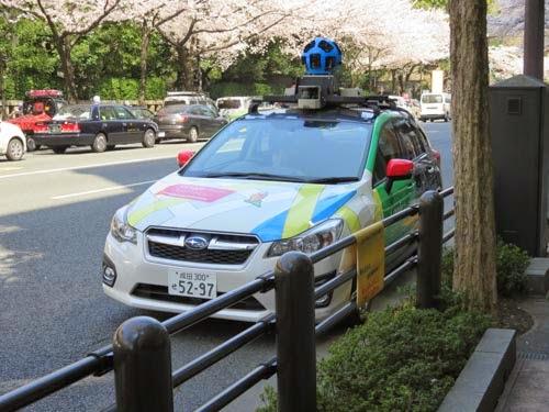 Googleマップの撮影車01