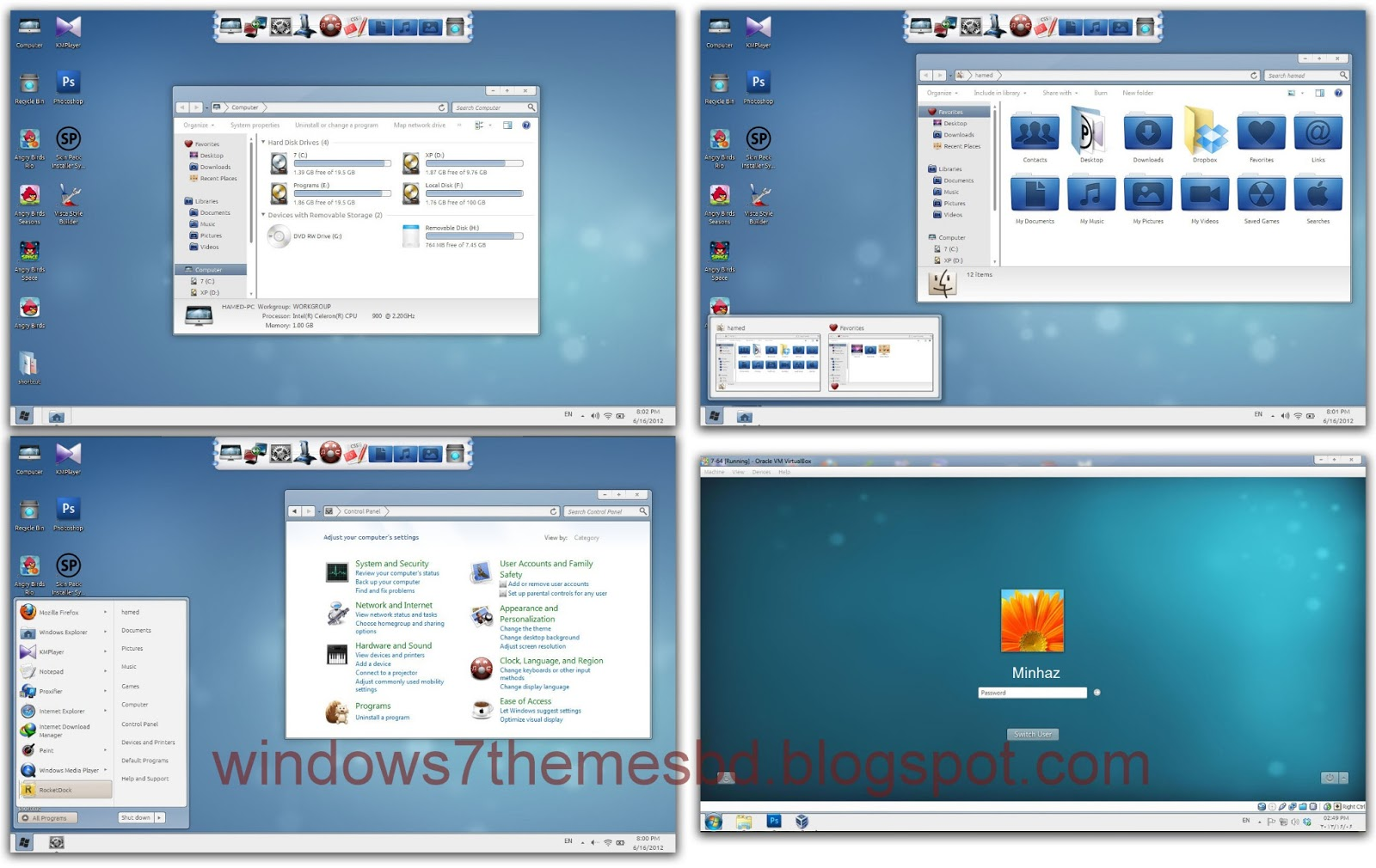 Free Download Wave Skin Pack For Windows 7