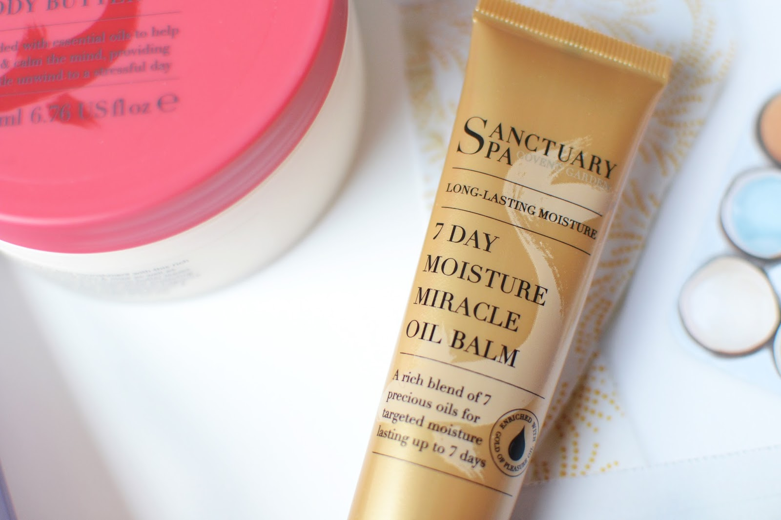 sanctuary spa 7 day moisture oil balm review, affordable products for dry skin