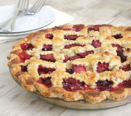 Delicious Food Recipes: Pear Raspberry Pie