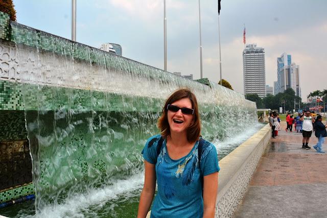 Merdeka Square Kuala Lumpur waterfall