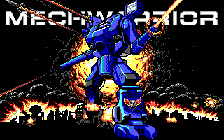 MechWarrior Mech Warrior title screen pc dos msdos