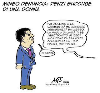 Renzi, Mineo, donne, satira vignetta