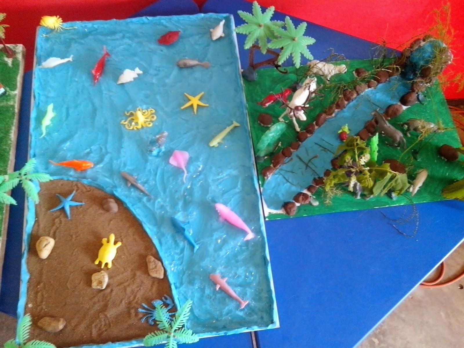Maquetas en relacion al ecosistemas: exposición de maquetas