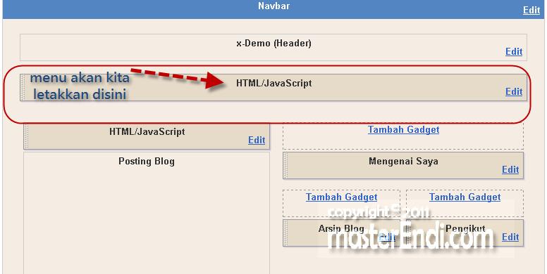 Cara membuat menu dibawah header blog gali potensi for Html header menu templates