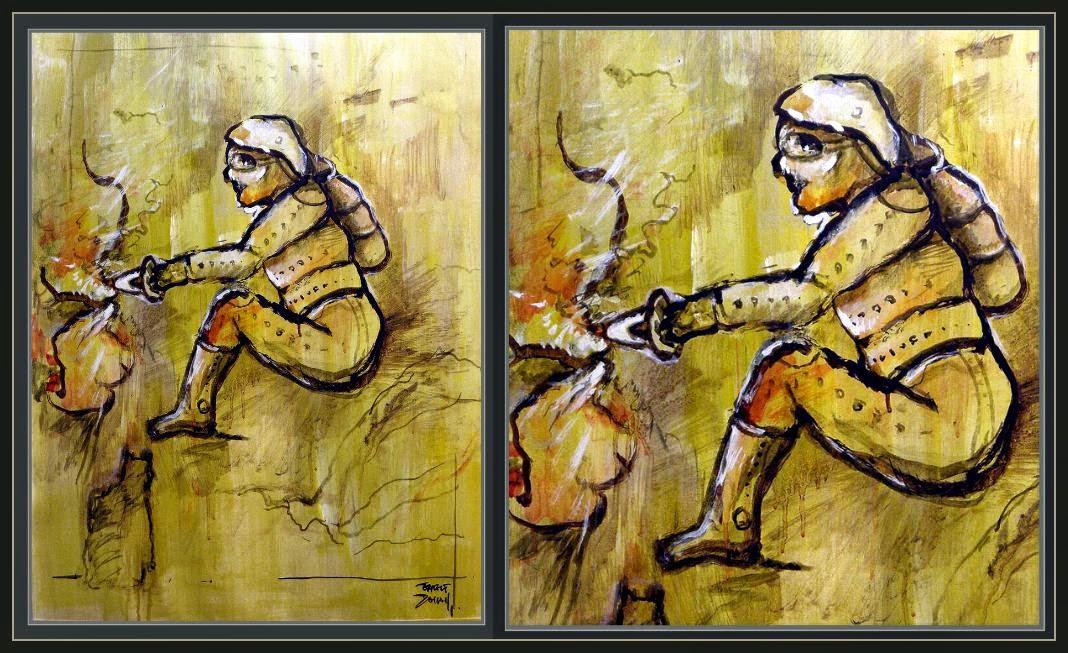 ANUNNAKI-MINERIA-MINEROS-ARTE-PINTURA-MINING-MINNER-ART-PAINTINGS-ARTIST-ERNEST DESCALS-