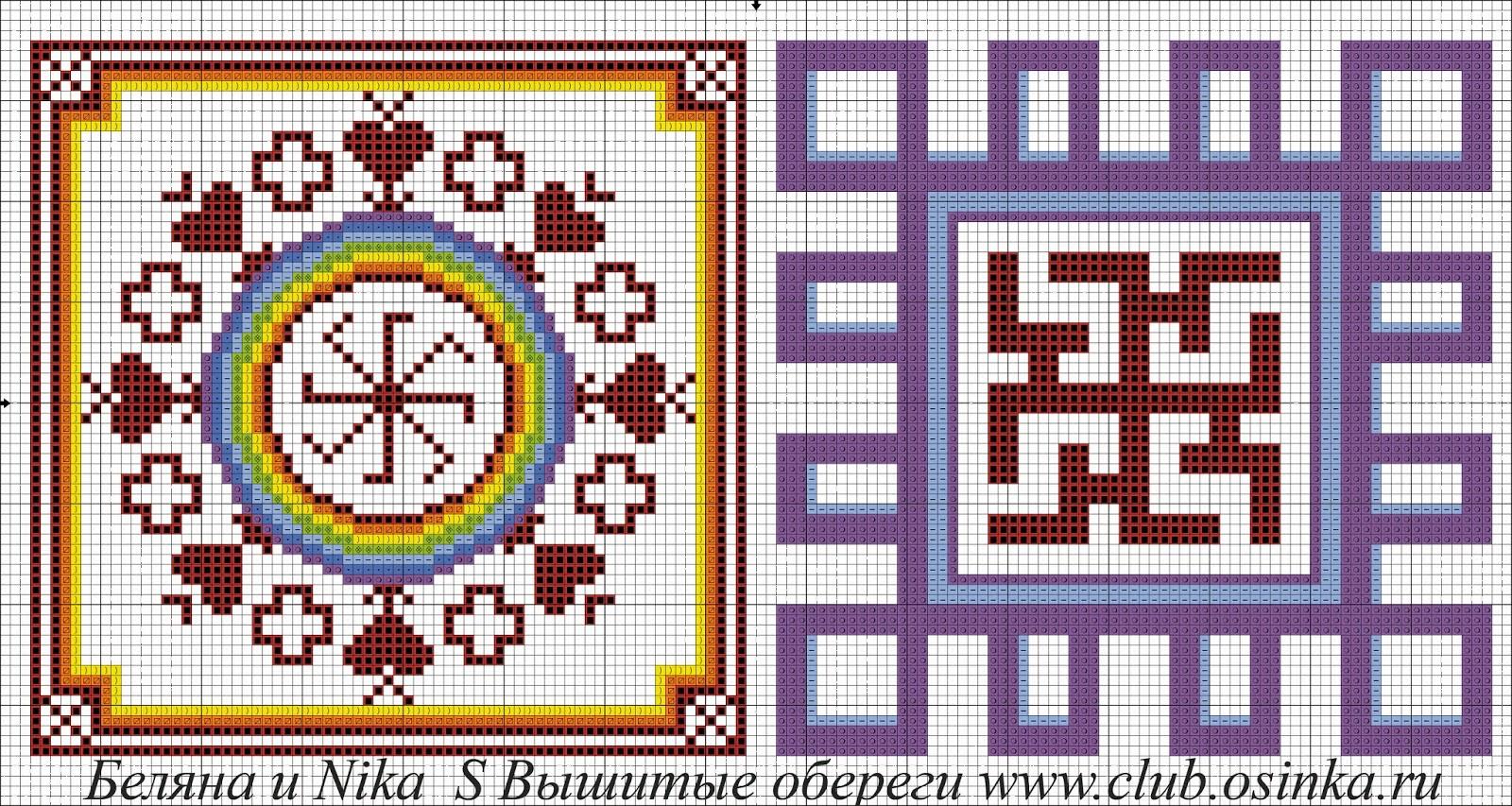 Репейник схема вышивки крестом