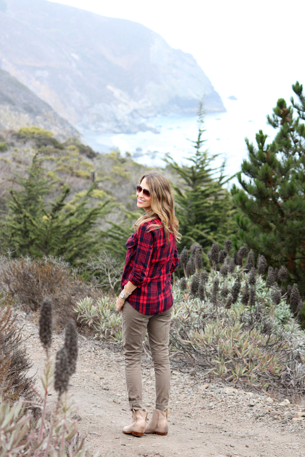 Fall outfit ideas: J. Crew utility pants & plaid shirt