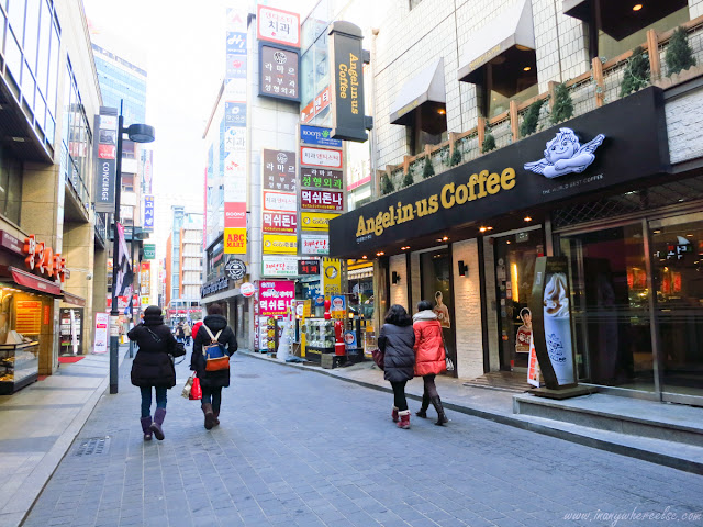 Angel-in-us Coffee shop in Myeongdong
