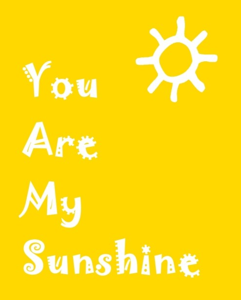 ready set create you are my sunshine printable