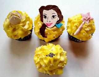 Cupcakes de La Bella y La Bestia para Fiestas Infantiles