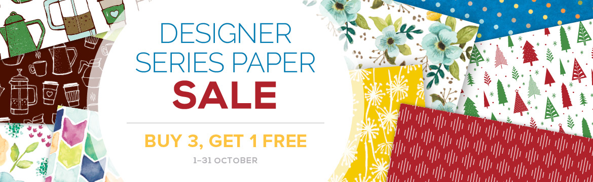 Designer Series Paper Sale 1-31st October